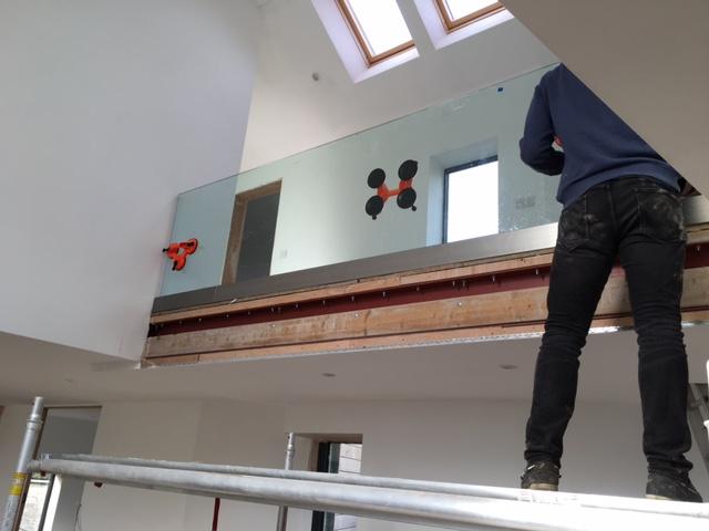 Glass Balustrade installation in Bath